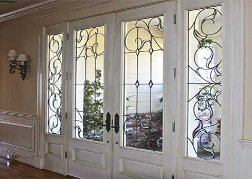 Traditional Beveled Leaded Glass Work From Stained Glass Westlake Village and Silva Glassworks
