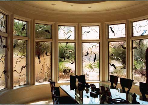 Contemporary Beveled Leaded Glass Work From Stained Glass Westlake Village and Silva Glassworks