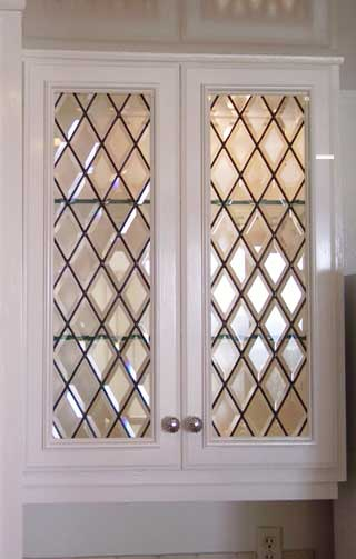 View Our Gallery of Cabinet Doors From Stained Glass Westlake Village and Silva Glassworks